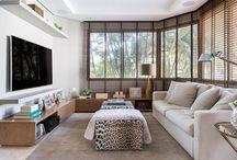 SALAS DE TV / Salas de Tv projetadas pela arquiteta Karen Pisacane