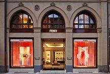 Fendi store in Munich / Vetreria Bazzanese provided glass furniture for the Fendi Store in Munich.