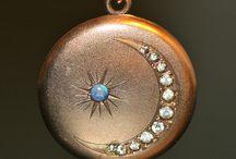 Pretty crescent locket