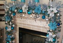 Christmas in Teal Mint Turquoise