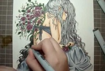 With Copic Markers...... / by Sandy Parrott