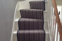 Multicoloured Stair Runner Supplied & Installed / Client: Private Residence In East London Brief: To supply & install carpet to stairs