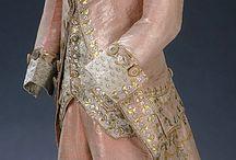 1780 - 1789 / kleding voor dames en heren van de jaren 1780 - 1789