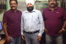 Another feather on the cap of team Edge1 !!! /  If you work just for money, you'll never make it, but if you work for your client satisfaction, success will be yours.Edge1 Outdoor Media Management Software team  gears up for another successful implementation  for Chitra Painters, Ernakulam, Kerala. Mr. Upinder Singh, Project Director Edge1(Center),Mr. Rajeshkumar Madhavan(Left),Director Chitra Painters,Mr. Chtitran(Right),Director Chitra Painters.
