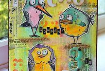 Cards: Tim Holtz - birds