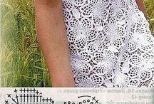 Платье крючок