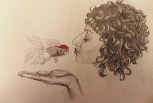 Ilustraciones que amo / Lo que mi corazon ve hermoso lo que mi corazon me hace amar