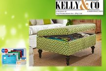 OTTOMANS & STORAGE OTTOMANS / CUSTOM MADE FURNITURE - YOUR SIZE - YOUR OWN CHOICE OF FABRIC AND DESIGN