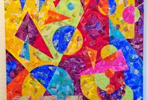 My Painted Paper Collages