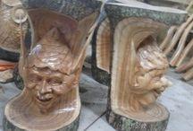 stool duende / stool duende talla de madera. Diseño, producción y fabricación exclusiva y ecológica por www.comprarenbali.com