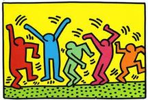 KEITH HARING, MY OLD FAVOURITE ARTIST! / Keith Haring used to be my favourite Artist as a 16 year old and older when i discovered a book about him in an Art shop in Barcelona. I love his simple bold illustrations. Now that i'm older i feel he isn't quite my favourite artist anymore.