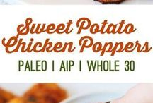 sweet potato and chicken poppers