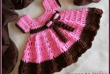 Crochet / Newborn dress