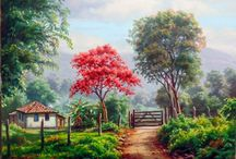 paisagens / pintura a oleo