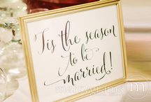 Christmas Weddings / Find some inspiration here for your winter wonderland Christmas themed wedding.