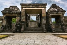 """Ratu Boko Palace / Ratu Boko Palace is an archaeological site in Java. Ratu Boko is located on a plateau, about three kilometres south of Lara Jonggrang Prambanan temple complex in Yogyakarta, Indonesia. The original name of this site is still unclear, however the local inhabitants named this site after King Boko, the legendary king mentioned in Loro Jonggrang folklore. In Javanese, Ratu Baka means """"Stork King""""."""