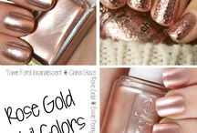 Nails : Rose Gold Polishes