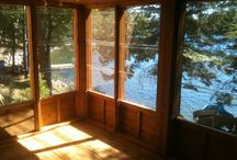 Jacks Lake Ontario / A Screen rooms clear, self-storing, shutters, system.