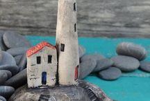 Houses in rock / Boat