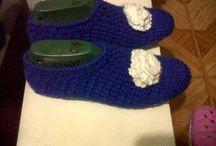 Zapatos y sandalias tejidos a crochet / Tejidos