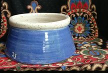 Dog bowls and urns