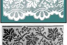 Curtain filet crochet