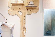 Houten design / Wandboom
