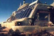 Earth Ships in New Mexico / just outside of Taos is a complex of ultra-sustainable houses made from 100% recycled materials that function entirely off the grid. Amazing place to vibist & a great place to stay!
