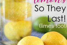 Lemon storing tips