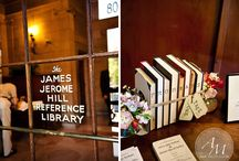 Old World/Library Wedding Inspiration / Cozy, charming and unique! This board is full of great inspiration for your Old World/Library theme wedding!