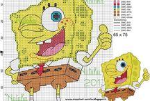 Haft krzyżykowy - SpongeBob
