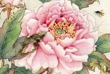 민화꽃그림