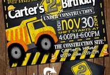 Doruk second birthday / Construction birthday party