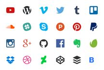 Stylish Social Media Icons / Looking for beautiful social media icons to display on your website? We've pinned our favourites from the web which are all free to use