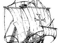 пираты и корабли рисовашки