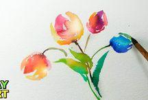 Akvarell virágok Videók
