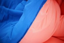 Fusion Coral/Pacific Blue Reversible Comforter - Twin XL / Fusion Coral/Pacific Blue Reversible Comforter - Twin XL