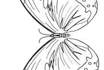 πεταλουδα ζωγραφικη