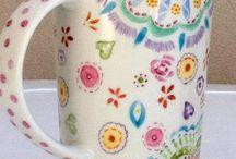 pintando porcelana