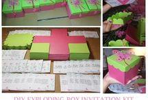 {EXPLODING BOX + CAKE  DIY KIT}