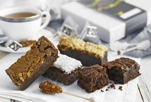 Afternoon tea through the post / Afternoon tea... brownies, treats, Teapigs tea and sugar swizzle sticks in a luxury gift box