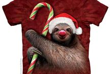 Christmas Tees / Incredibly cute christmas t-shirts with big face animals by the american t-shirt company The Mountain.