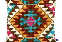 Tapestry Crochet Cushions