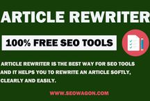Article Rewritter / Article rewriter a amazing tools to spin your article and gives you a unique one in six language, Upload your one get distinctive one.