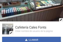 Cafes & Helados Cales Fonts / Cafeteria Cales Fonts
