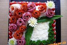 obložené mísy,dorty