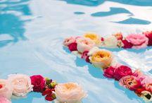 Pool deco wedding