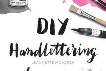 Hand lettering font tutorials