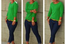 WARDROBE - GREEN / My T4 Style: Bold, Clean, Regal, Simple, Precise, Structured, Clear, Reflective, High-contrast, Keen.