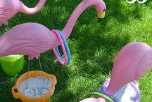 Teagan flamingo party